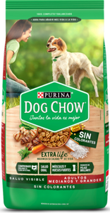 Alimento Dog Chow Adulto Sin Colorantes Raza Mediana Grande