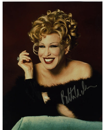 Bette Midler Autographed CD Music Display