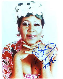 Aretha Franklin Autographed CD Music Display