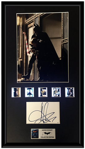 Aaron Eckhart - The Dark Knight Autographed Film Cell Display