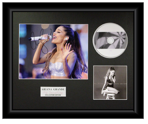 Ariana Grande Autographed Music CD Display