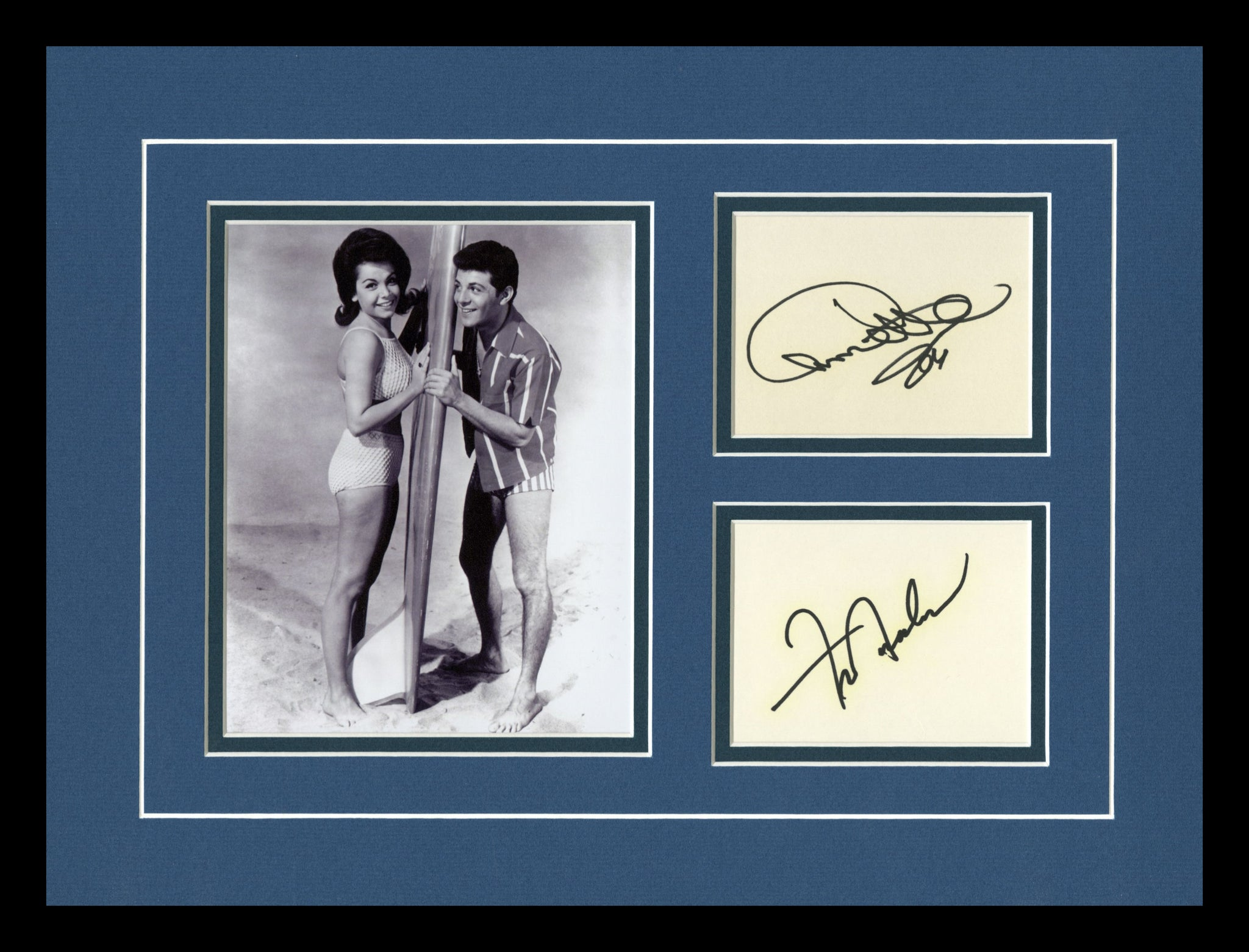 Annette & Frankie Autographed Display