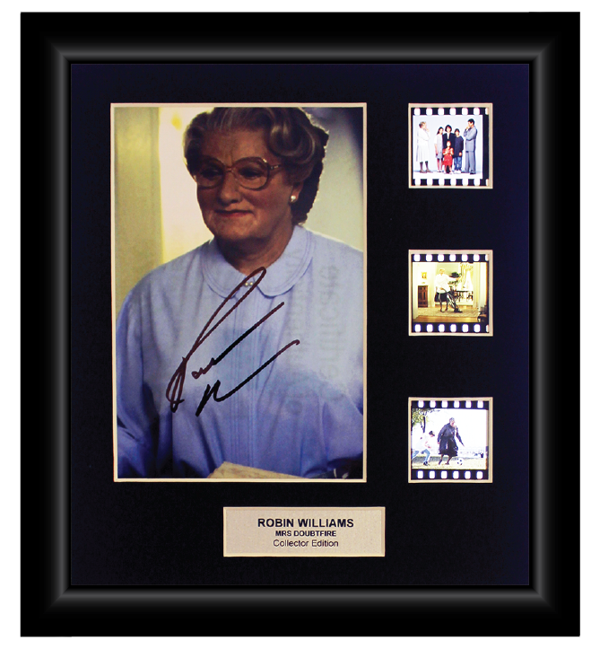 Mrs Doubtfire (1993) - 3 Cell Autographed Display