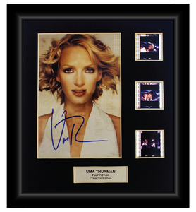 Pulp Fiction (1994)  - 3 Cell Autographed Display - LIMITED TIME SPECIAL