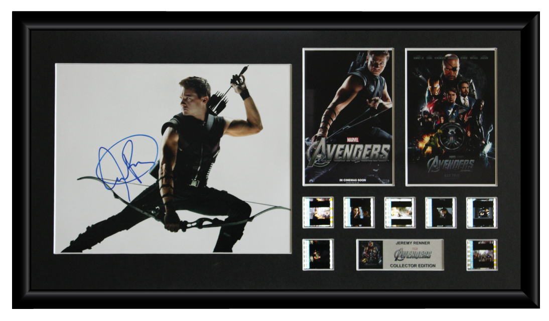 Avengers (Jeremy Renner)  Autographed Film Cell Display (1)
