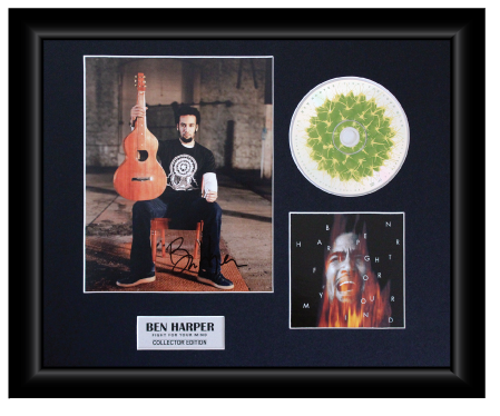 Ben Harper Autographed Music CD Display