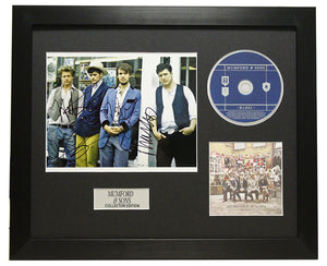 Mumford & Sons Autographed Music CD Display