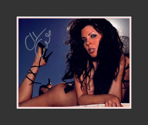 Christa Campbell Autograph - Model | Actress | Hostess of the X Show | The Crew