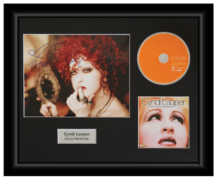 Cyndi Lauper Autographed Music CD Display