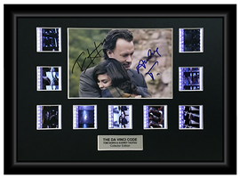 The Da Vinci Code (2006) - Autographed 9 Cell Film Display