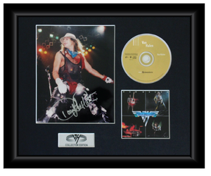David Lee Roth Autographed Music CD Display