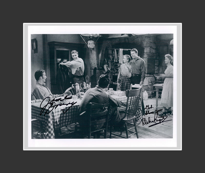 Debra Paget & James Drury Autograph - Love Me Tender (1956)