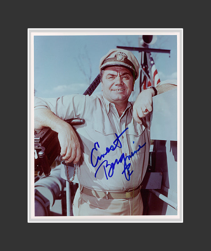 Ernest Borgnine Autograph - Actor | McHale's Navy | Airwolf | The Wild Bunch