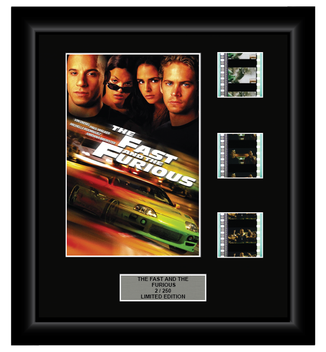 Fast and The Furious (1) (2001) - 3 Cell Display Film Display