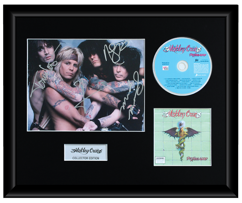 Motley Crue Autographed Music CD Display