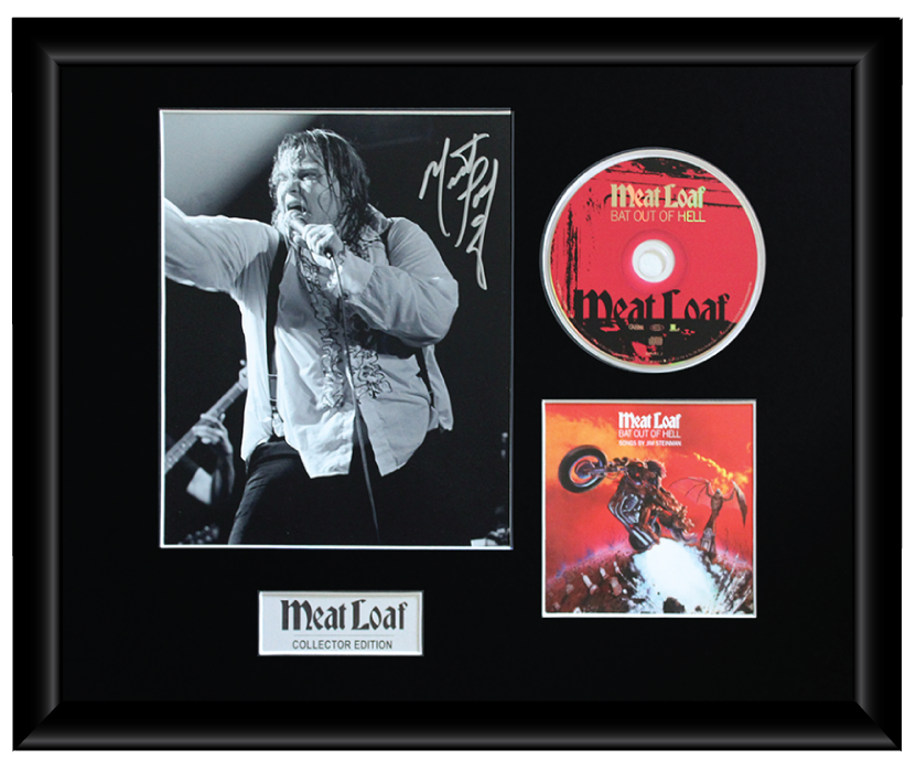 Meat Loaf Autographed Music CD Display