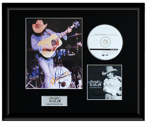 Dwight Yoakham Autographed Music CD Display