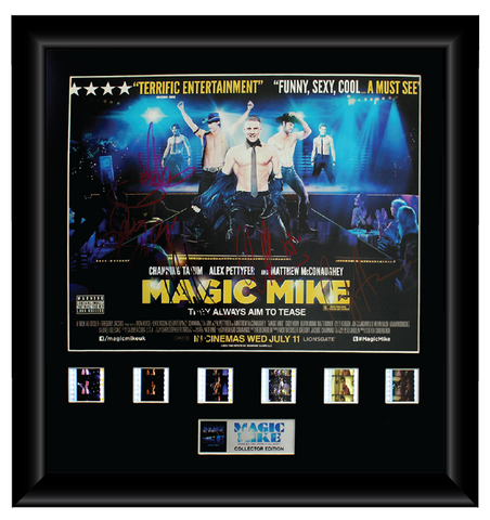 Magic Mike - Autographed Film Cell Display