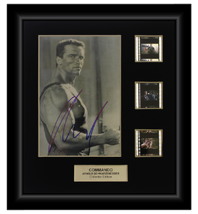 Commando (1995)  - 3 Cell Autographed Display