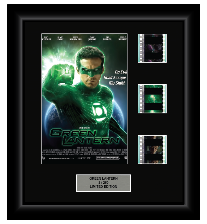 Green Lantern (2011) - 3 Cell Display - ONLY 1 AT THIS PRICE!