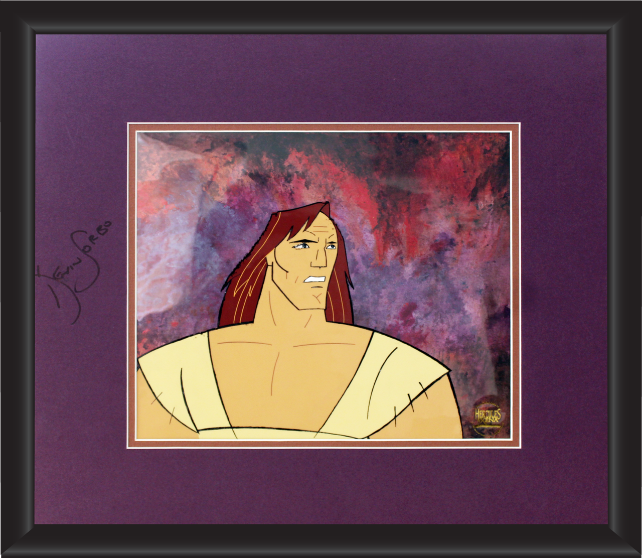 Kevin Sorbo Autographed Animation Cell Display (10)