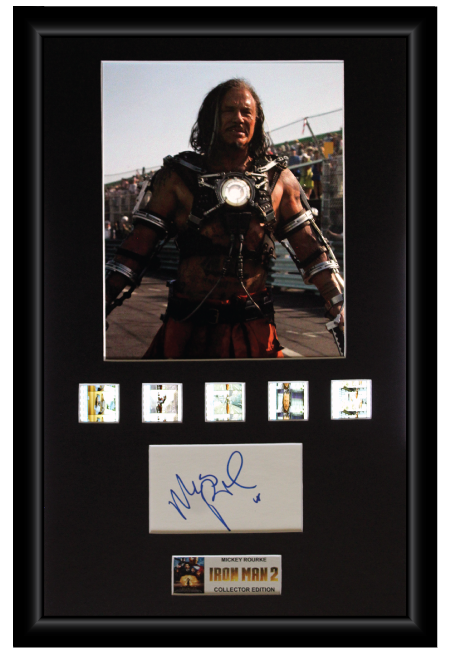 Mickey Rourke - Iron Man 2 (2010) Autographed Film Cell Display (1)