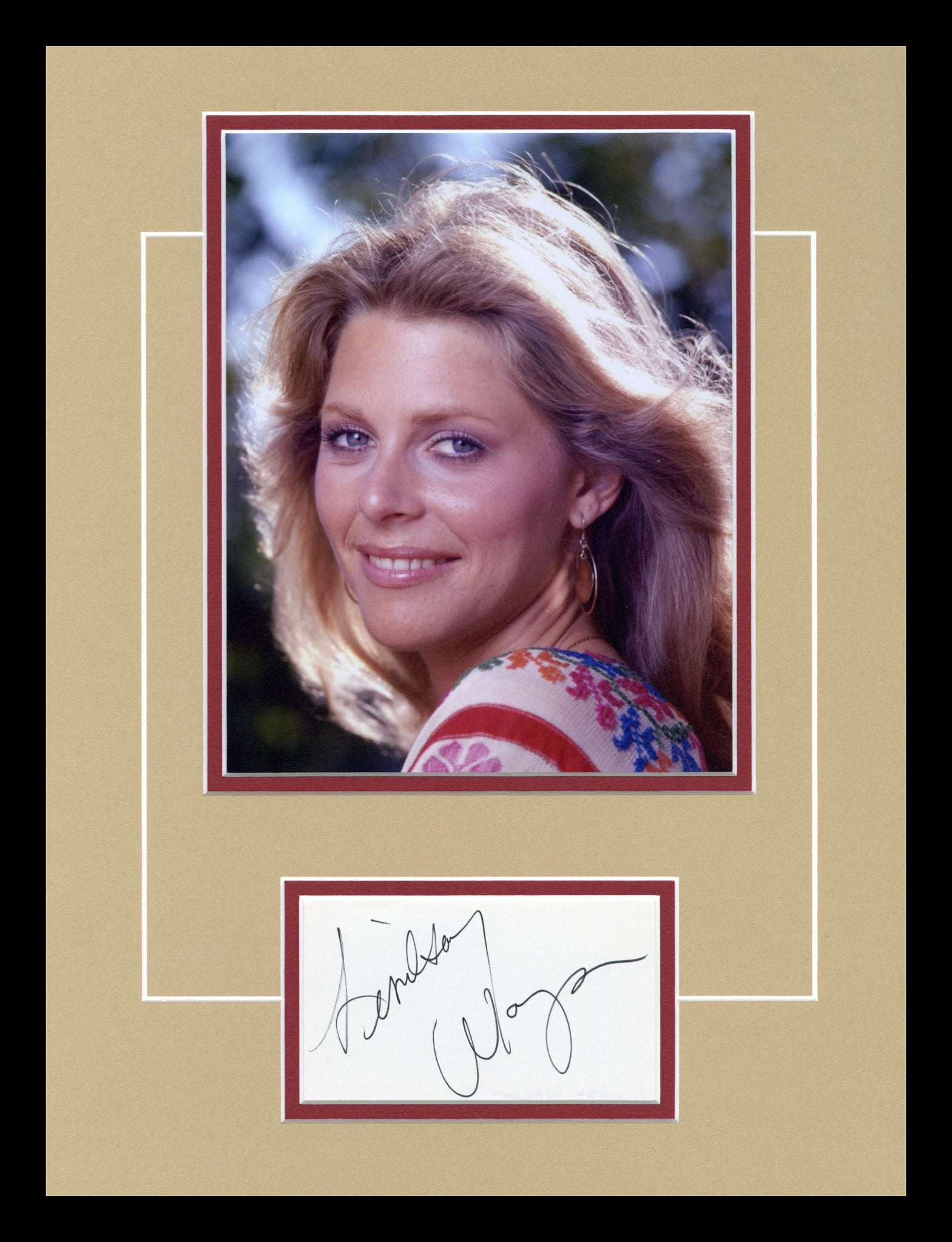 Lindsay Wagner Autographed Display