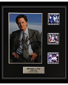 Family Ties (Michael J. Fox) - Autographed Film Cell Display