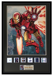 Neal Adams (Iron Man) - Autographed Film Cell Display