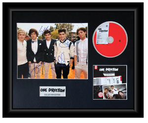 One Direction Autographed Music CD Display