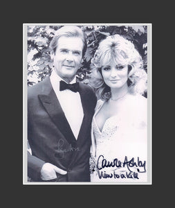 Roger Moore (1927-2017) & Carol Ashby Autograph - A View to a Kill (1985)