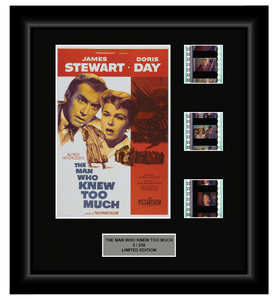 Alfred Hitchcock's The Man Who Knew Too Much (1956) - 3 Cell Display - ONLY 1 AT THIS PRICE!
