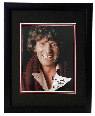 Tom Baker (Dr Who 1974-1981) - Autographed Display