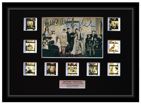 Wedding Crashers (2005) - 9 Cell Autographed Display