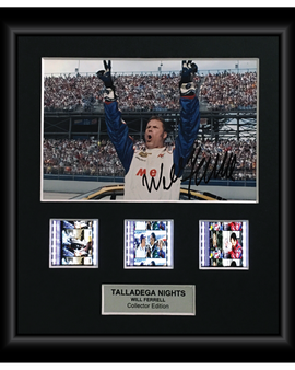 Talladega Nights 2006 (Will Ferrell) - Autographed Film Cell Display