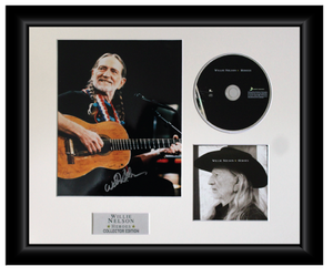 Willie Nelson Autographed Music CD Display