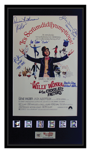 Willy Wonka & The Chocolate Factory (Cast) Autographed Film Cell Display (2)