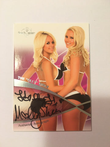 The Olly Girls - Autographed Benchwarmer Trading Card (2)
