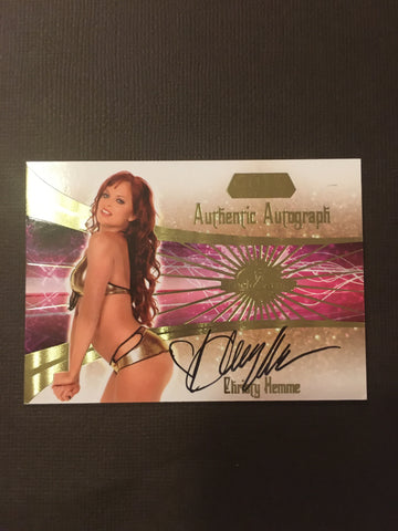 Christy Hemme - Autographed Benchwarmer Trading Card (1)