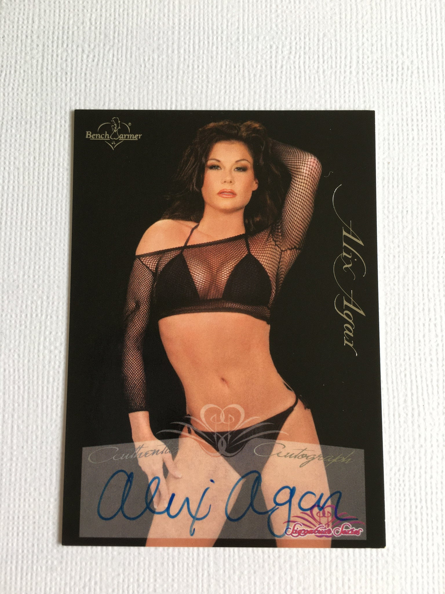Alix Agar - Autographed Benchwarmer Trading Card (2)
