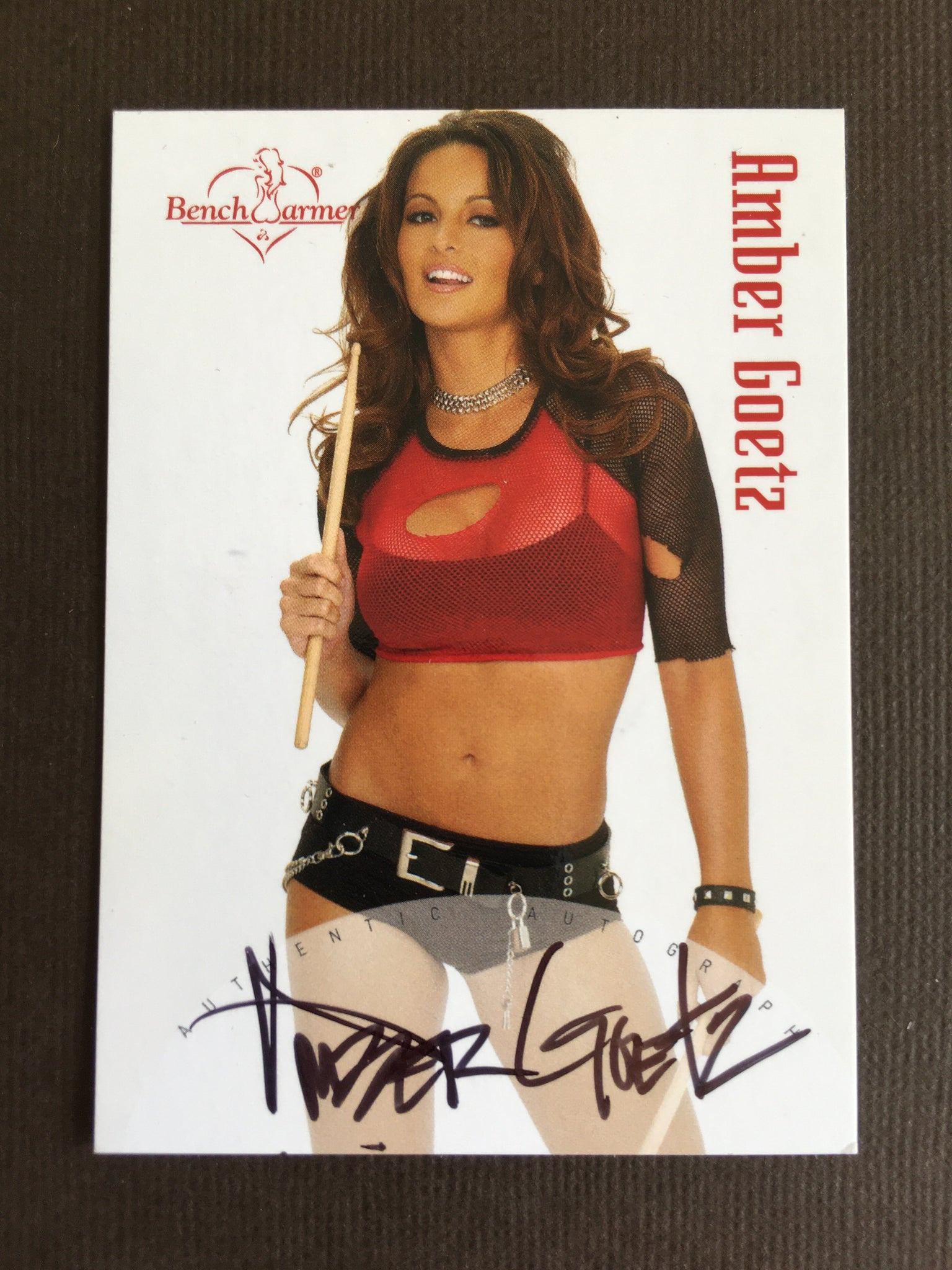 Amber Goetz - Autographed Benchwarmer Trading Card (1)