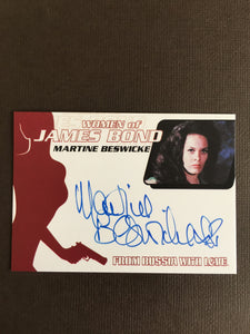James Bond Autograph Card (Martine Beswicke) - Limited & Rare Trading Card