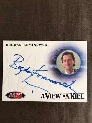 James Bond Autograph Card (Bogdan Kominowski) - Limited & Rare Trading Card