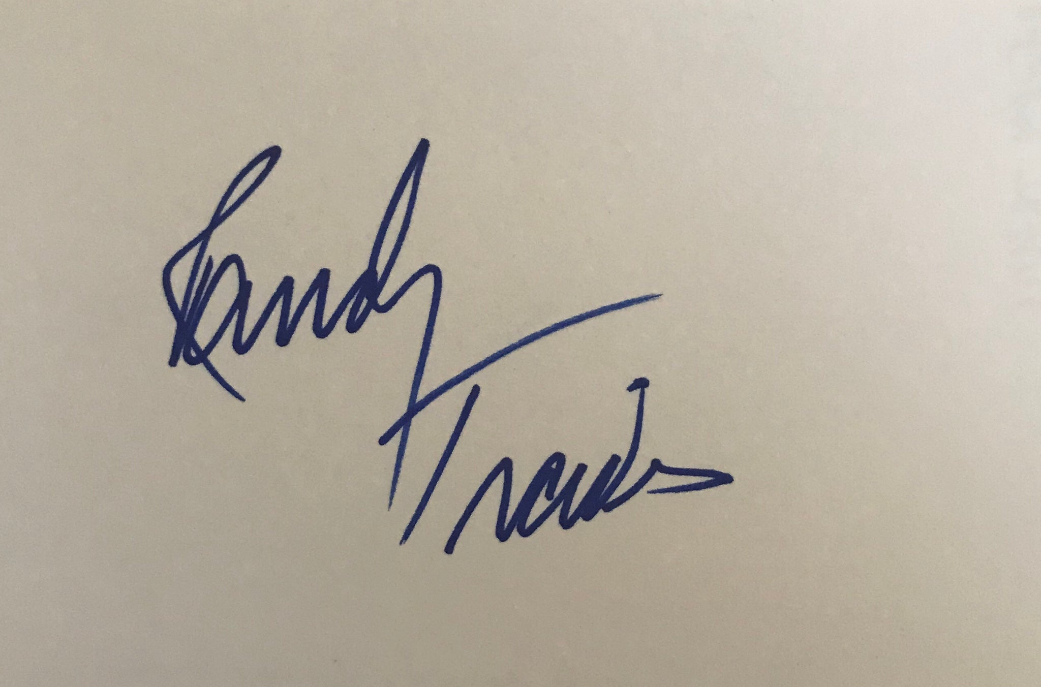 Randy Travis - Country Singer - Autographed Card