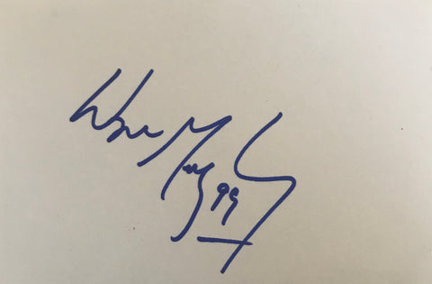 Wayne Gretzky - Ice Hockey - Legend - Coach - Autographed Card