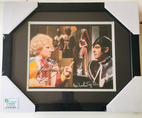 Colin Baker (Dr Who) & Michael Jayston (The Valeyard)  - Dr Who (FRAMED)