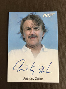 James Bond Autograph Card (Anthony Zerbe) - Limited & Rare Trading Card