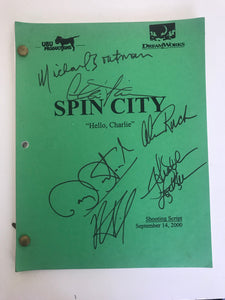 "Spin City ""Hello Charlie"" Autographed Shooting Script (2000)"