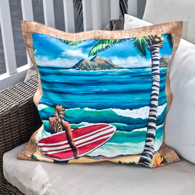 bliss collective bags 'olu'olu pillow luxury art decor hawaii cork