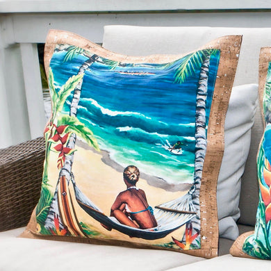 bliss collective bags 'olu'olu by Bliss Hawaii luxury pillow art cork luxury decor